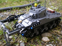 sherman crab 1 (Alred_irely) Tags: lego crab v british sherman flail brickmania