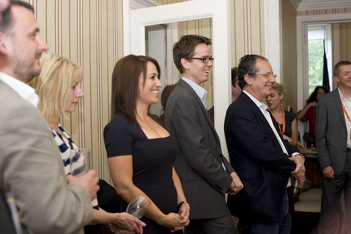 Richard Ledes and guests at the US Consulate Reception