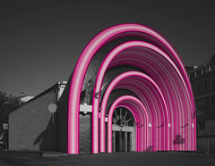 PINK GATE_Simulation_01 (VonMurr) Tags: pink moscow simulation gradient pinkgate pinknotdead krasnyevorota maurycygomulicki