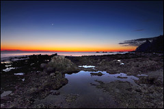 ...life on mars... (zio paperino) Tags: travel sunset sea sky italy panorama moon holiday seascape nature water landscape geotagged puddle mar agua nikon rocks europa europe italia tramonto mare natura vaticano sicily acqua etna capo calabria sicilia tropea d90 ricadi ziopaperino mygearandme
