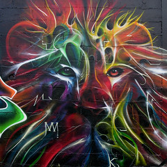 LION POWER by Kalees (kalees one) Tags: abstract paris france french graffiti lion nok silak kalis sinke