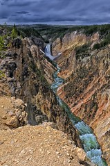 On the Edge (Phil's Pixels) Tags: wyoming canyons yellowstoneriver grandcanyonoftheyellowstone yellowstonepark