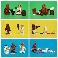 28/52: ALWAYS let the Wookie win! (pong0814) Tags: canada macro sports closeup canon fun toys photography eos starwars winnipeg colours lego baseball lol flash chess july manitoba indoors tennis actionfigures comicstrip panels minifigs dslr weekly defeat legostarwars wookie chewbacca losing 2012 georgelucas contests moviequotes ef100mmf28macrousm minifigures lucasfilms soreloser project52 430exii 5dii legofaces starwarsquotes