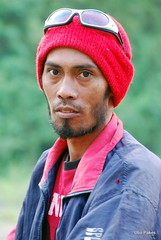 the habal habal driver (ubo_pakes) Tags: street red portrait man face lines sunglasses beard photography eyes nikon asia outdoor philippines jeans jacket cebu taxidriver had visayas d60 minglanilla ubo pakes mygearandme