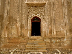 The Gate (Germn Vogel) Tags: brown history stairs gate asia iran entrance carving calligraphy hamedan stucco seljuk kufi islamicrepublic westasia ilkhanid alaviyan