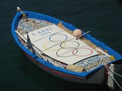 Olympic Boat (Nomis.) Tags: ocean sea 2004 sports water sign sport greek islands boat symbol flag hellas floating games row greece rings rowing olympic olympics float kefalonia symbolic 2012 olympicgames olympiad london2012 ionian ellada thegames rowingboat olympicrings  theolympics