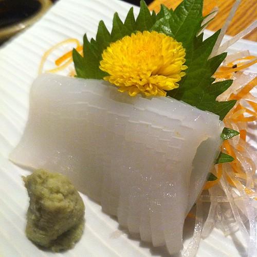剣先イカの刺身 #dinner