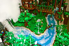 The Mystic River (Siercon and Coral) Tags: trees castle coral forest lego magic fantasy redwood archery guild mystic faerie elves moc lothlorien avalonia forestmen siercon