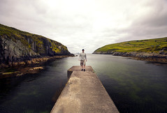Along the pier (Paul O' Connell) Tags: ireland rural landscape ma outdoors photography alone sitting harbour kerry coastal vista skelligrocks pauloconnell glenpier ballinskelling
