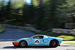 Heritage. (Charlie Davis Photography) Tags: heritage ford pc rumble amazing driving gulf stripe nuts pass fast sound oil gt rims panning incredible epic parkcity speeding v8 exhaust supercharged gt40 fordgt rumbling roadrally heritagefordgt gulfoilgt40