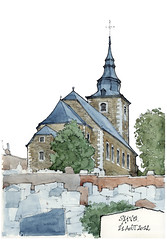 Saive (gerard michel) Tags: church architecture sketch belgium aquarelle watercolour église croquis saive blégny