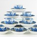 211. Set of (8) 19th century English Tea Bowls & Saucers