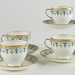 194. Service For 7 of Worcester Teacups & Saucers