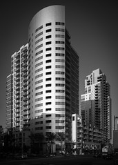 Strata (Chimay Bleue) Tags: white black building tower monochrome vancouver skyscraper grey mono san noir apartments village apartment diego east condo perkins strata highrise residential blanc