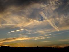 contrail sunset.jpg (zen) Tags: sunset sky mountains postoffice po zensutherland 20121105