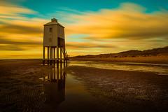 Polluted Sunset... (nalamanpics) Tags: sunset lighthouse colour canon le stunning lowtide burnhamonsea ef1740mmf4lusm burnhamonsealighthouse