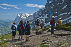 The Eiger Trail . Looking at the Eiger klimbing trail. No. DSC_8060. (Izakigur) Tags: topf25 topf100 izakigur