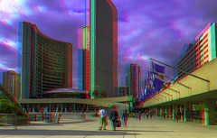 Nathan Phillips Square, Toronto 3-D ::: HDR/Raw Anaglyph Stereoscopy (Stereotron) Tags: urban toronto architecture modern radio canon eos stereoscopic stereophoto stereophotography 3d downtown raw control contemporary citylife streetphotography kitlens twin anaglyph financialdistrict stereo stereoview to remote spatial 1855mm hdr redgreen tdot 3dglasses hdri transmitter stereoscopy synch nathanphillipssquare anaglyphic optimized in threedimensional hogtown stereo3d newtownhall thequeencity cr2 stereophotograph anabuilder thebigsmoke synchron redcyan 3rddimension 3dimage tonemapping 3dphoto 550d torontonian stereophotomaker 3dstereo 3dpicture anaglyph3d yongnuo stereotron