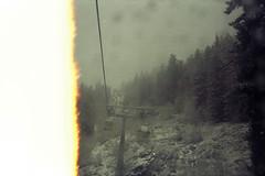 off we go... (thomas.drezet) Tags: life trip trees light mist ski alps film analog gold lomo lomography skiing shot kodak first olympus half leak 35