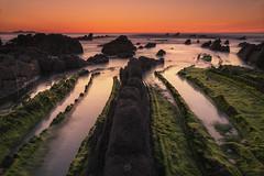 Sunset in Barrika (Sergio Nevado) Tags: sunset sea beach atardecer mar long exposure country playa bizkaia basque vasco euskadi vizcaya pais exposicion larga cantabrico barrika flysch