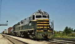 BRC 605 in Broadview,Illinois on September 18, 1994. (soo6000) Tags: railroad train illinois brc transfer freight broadview 605 alco manifest ihb beltrailwayofchicago c424 provisotransfer brc605
