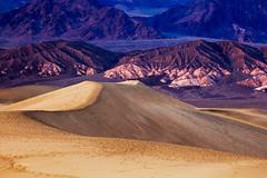 Foot Prints (www.sergeybidun.com) Tags: sunset mountains nature landscape foot dunes hills prints deathvalley
