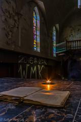 Praying (jeroenknol81) Tags: door urban abandoned church hall nikon christ belgium belgie decay prayer religion pray sigma altar aisle forgotten cloister exploration oud urbex altaar d5200