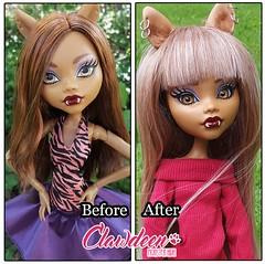 Before & After (lovelykeki) Tags: doll mh 17inch clawdeen monsterhigh mhdoll frightfullytall frightfullytallghouls