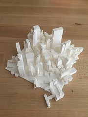 I printed a city. (zingbot) Tags: street city 3d open map printed
