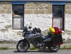 Seen in Roundup,Montana (montanatom1950) Tags: montana suzuki roundup dl650 vstrom motorcycletouring roundupmontana