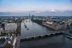 London Sunset (Jemma Graham) Tags: city uk bridge sunset england london water thames skyline river boats view unitedkingdom britain capital housesofparliament londoneye bigben gb photo24
