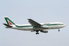 I-BUSJ Airbus A.300B4-203 Alitalia (pslg05896) Tags: london heathrow airbus lhr alitalia a300 egll ibusj