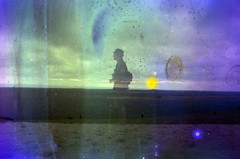 Being shadow (Joa All I do) Tags: 35mm doubleexposure scratches nikonf100 sureal superposition dunedupila