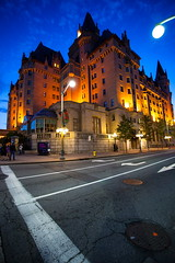 Ottawa At Night (stevenbulman44) Tags: road blue summer sky color building architecture canon cityscape outdoor structure chateaulaurier lseries 1740f40l