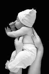 (elenaaparins) Tags: blackandwhite child mother newborn tenderness miamimama newbornphoto newbornmiami