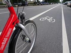 StadtRAD Hamburg (stevenbrandist) Tags: road travel red bike bicycle germany cycling cyclist hamburg rental travelogue stradtrad