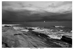 2016-065-Bryzlame (bryzlame - photo) Tags: nuages monochrome paysage ouest corse sony rx 100 bryzlame