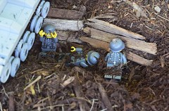 Alone and Overrun (Weegee011) Tags: lego russian tank german wwii ww2