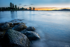 After Sunset  (T.ye) Tags: sunset english bay landscape long exposure stone rock sea beach sunlight