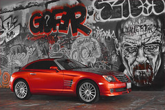 Chrysler Crossfire Custom Orange Paint, Graffiti Garage, Tacoma, Washington (Don Briggs) Tags: 50mmnikkorlens nikond600 donbriggs tacomagraffitigarage