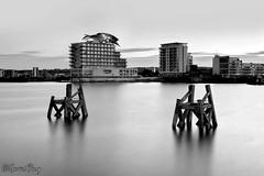 Cardiff Bay (parry101) Tags: cardiff bay cymru welsh caerdydd south wales water long exposure nikon d3200 nikond3200 black white blackandwhite blackwhite bw