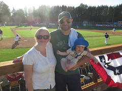 baby's first baseball game (carolyn_in_oregon) Tags: portland oregon jacob me al allie baseball portlandpickles