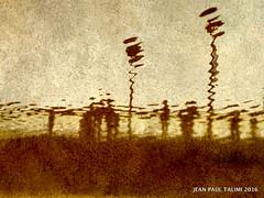 Sur le pont de Paris (JEAN PAUL TALIMI) Tags: paris texture monochrome statue seine eau solitude pont rembrandt ocre seul silouettes touristes exterieur sentinelles talimi