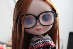 Mi nerdy favorita (littlewillers) Tags: nerd glasses blythe custom