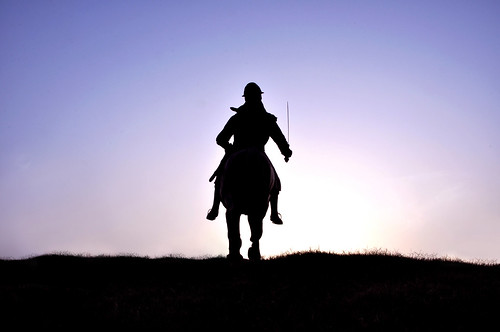 Sikh Warrior Silhouette - Fateh Burj at Chappar Chiri in Punjab, North India