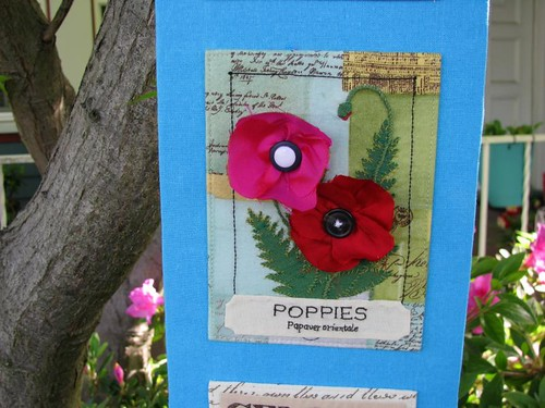 Vintage Seed Packet Wall Art (oriental poppies detail)