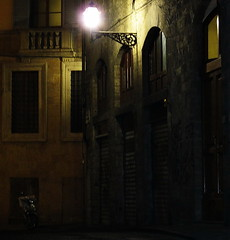lonely bike (bobbat) Tags: light italy bike night dark florence alley italia darkness tuscany firenze toscana