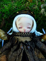 Wind is not moving (Purple  Enma) Tags: park sleeping espaa girl make up grass ball spain flora doll picnic dolls little yo lola meeting faceplate andalucia dreaming sd cordoba bjd fl resin custom acerola fairyland meet steampunk isy jointed ltf mombi littlefee