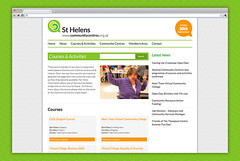 St Helens Community Centres  Courses Page (Cultivate Creative) Tags: print design community education graphic web centre creative learning network branding sthelens activities courses cultivate