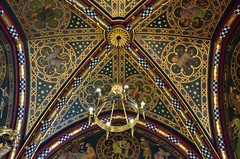 090 Cardiff Castle (Mark Baker.) Tags: uk blue wales gold photo apartments baker mark cardiff ceiling photograph 2012 cardiffcastle picsmark